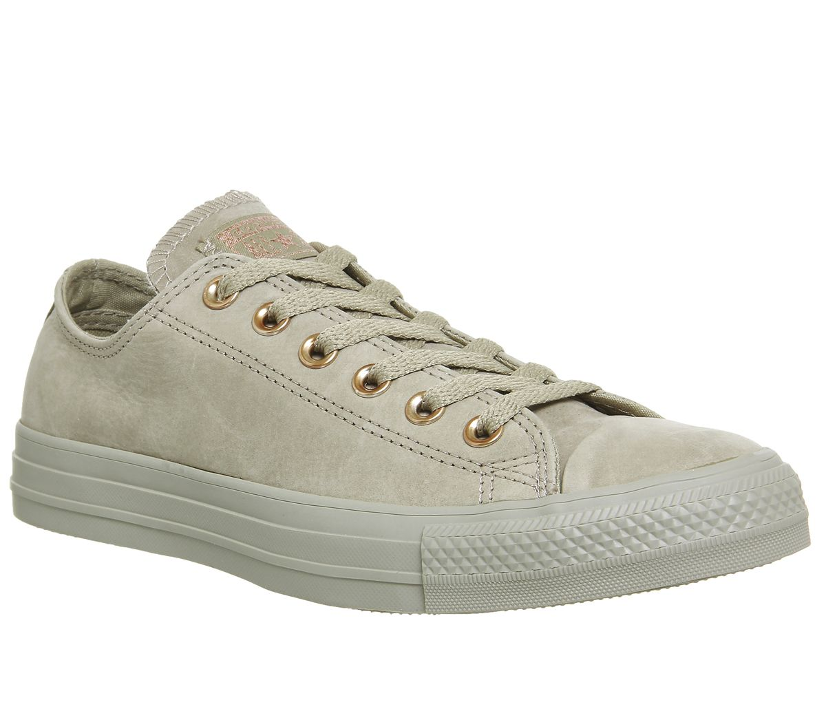 180fb25669f7 Converse All Star Low Leather Khaki Rose Gold Exclusive - Hers trainers