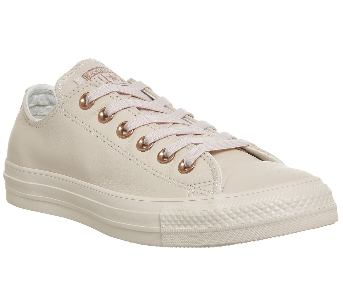 66e6b1de3638 Converse All Star Low Leather Pastel Rose Tan Rose Gold - Hers trainers