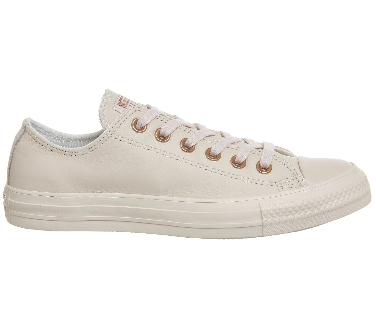 2578c4e3a37ef8 Converse All Star Low Leather Pastel Rose Tan Rose Gold - Hers trainers