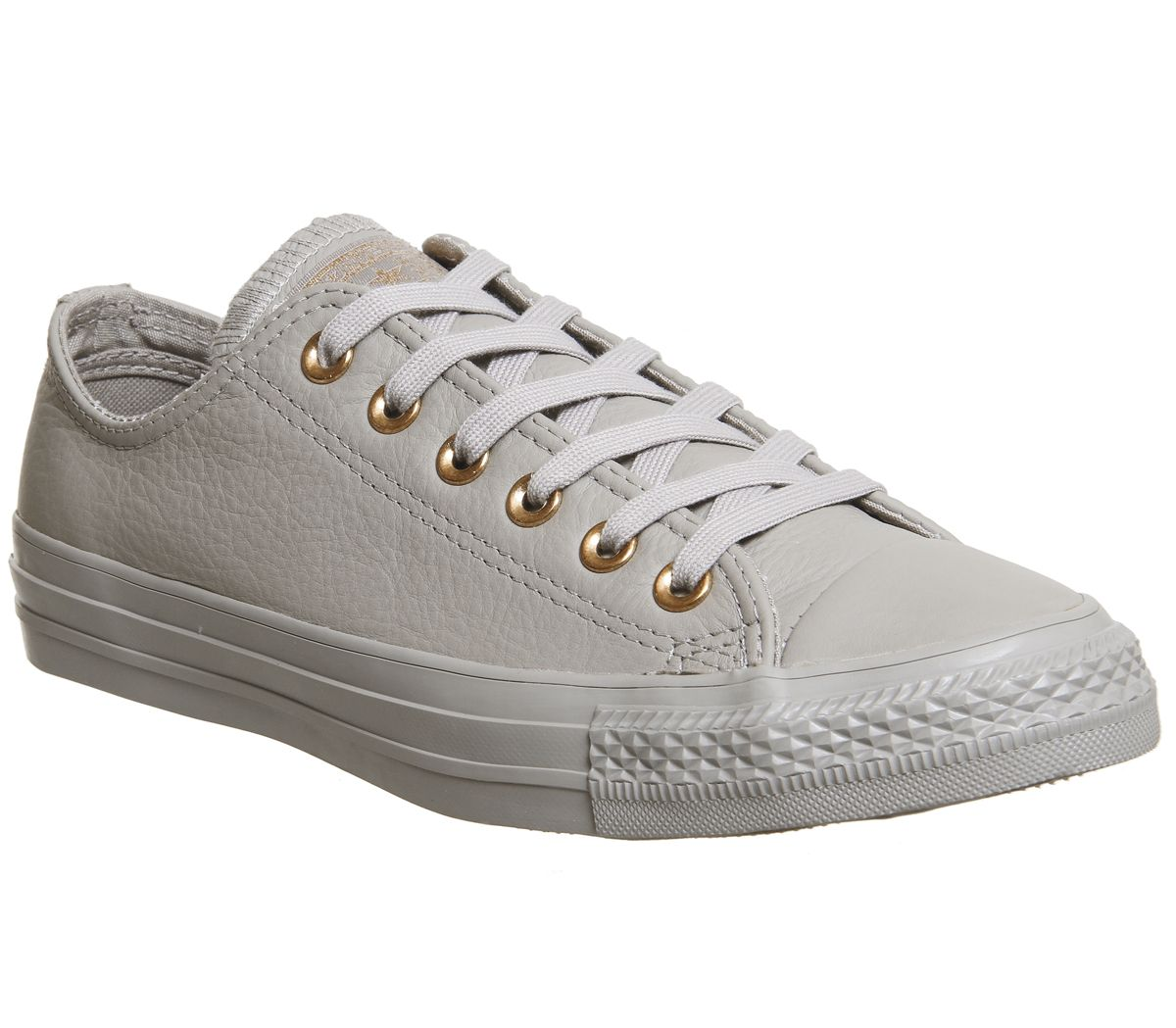 25e1f4290895 Converse All star Low Leather Trainers Malted Rose Gold Exclusive ...