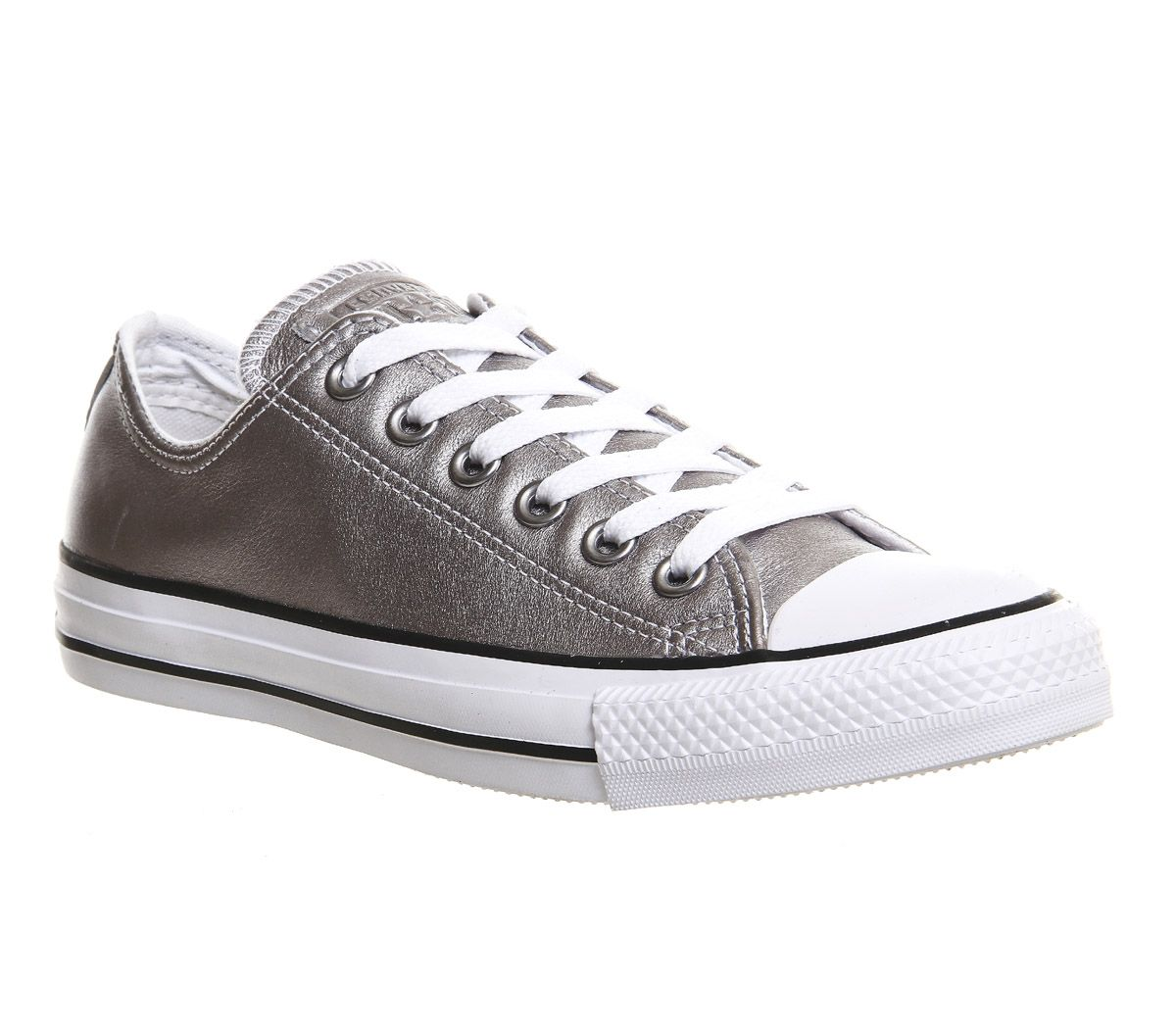 9d7a133c1c8b1e Converse All star Low Leather New Silver Exclusive - His trainers