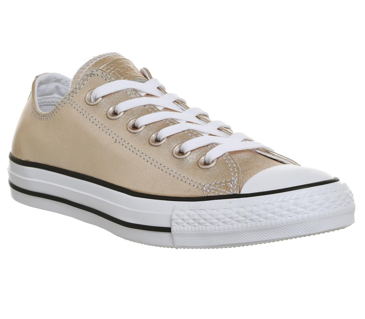 1f6f6ca13c96 Converse All Star Low Leather Trainers Blush Gold - Hers trainers