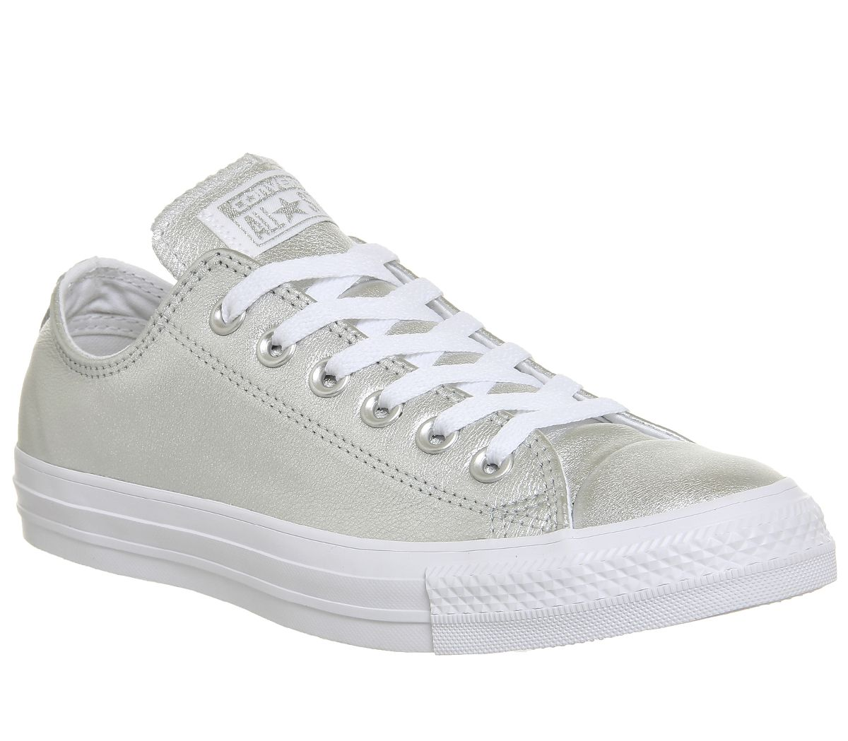 704123ffc1c65f Converse All Star Low Leather Pure Silver White - Hers trainers