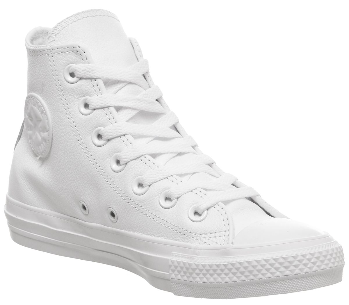 7d9107f3f2d4 Converse All Star Hi Leather White Mono - Unisex Sports