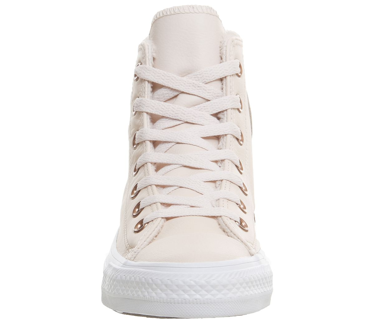 605ea14444b8 Converse All Star Hi Leather Pastel Rose Tan Fur - Hers trainers