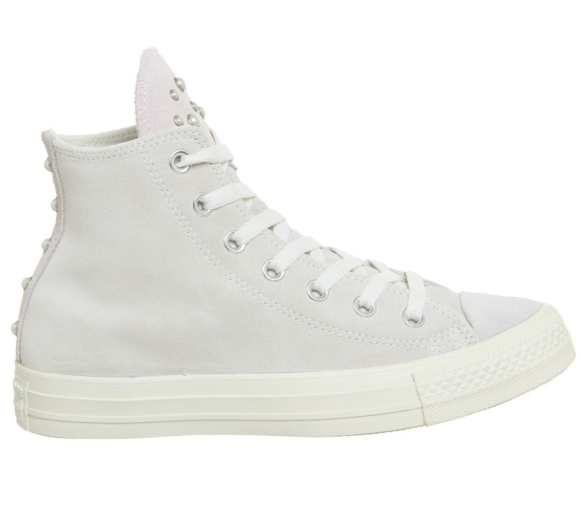 Converse All Star Hi Leather Egret Pale Quartz Blush Pearl