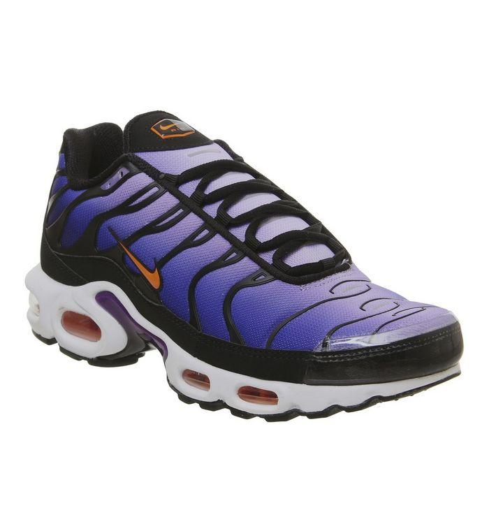 f9fd9c2782 Air Max Plus Trainers; Nike, Air Max Plus Trainers, Black Total Orange  Coltage Purple ...