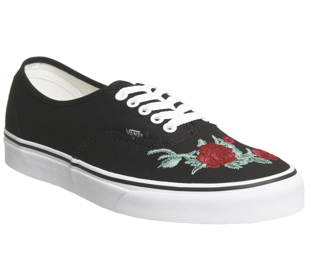 eb47df9ef5f1 Vans Authentic Trainers Black Red Rose - Hers trainers