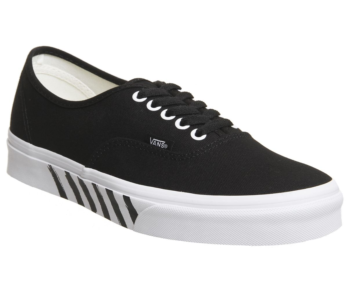 f5b174e7b7 Vans Authentic Trainers Black True White Stripe - Hers trainers
