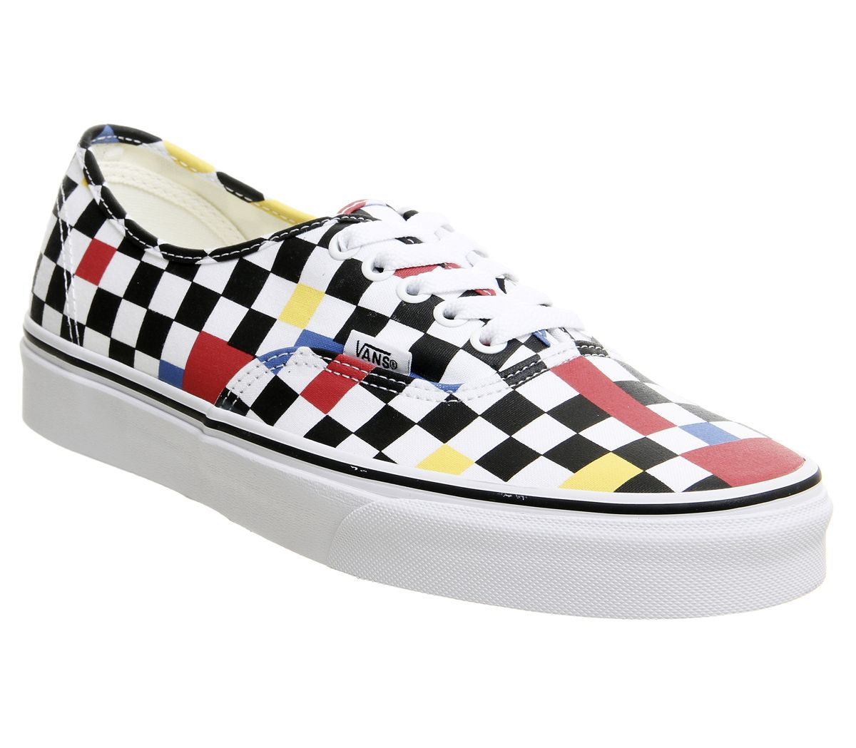 88f619da901ca6 Vans Authentic Trainers Geometric Multi Black True White Exclusive ...