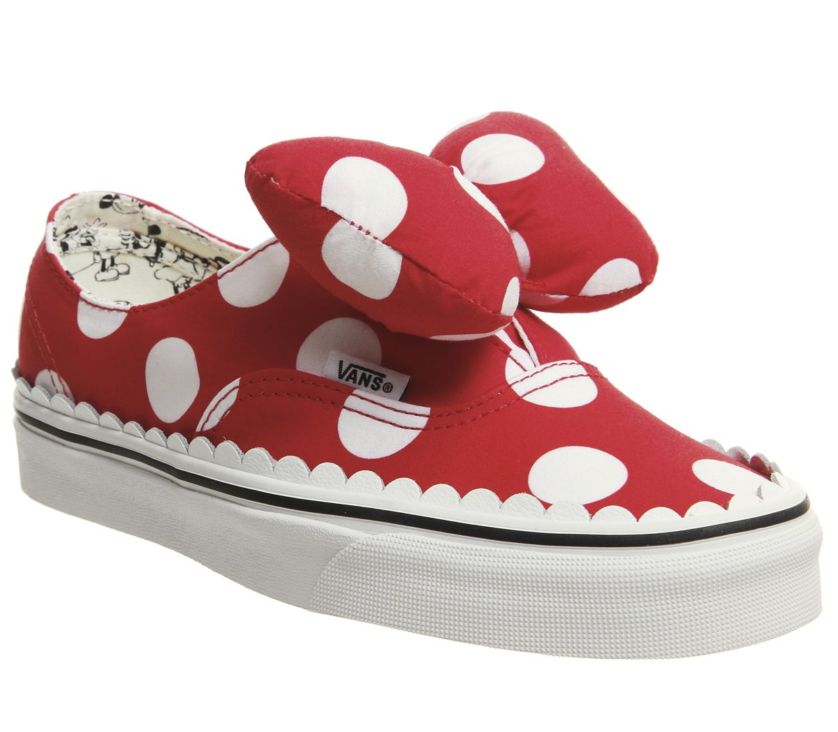 630936fbbed4 Vans Authentic Trainers Minnies Bow True White Disney - Hers trainers