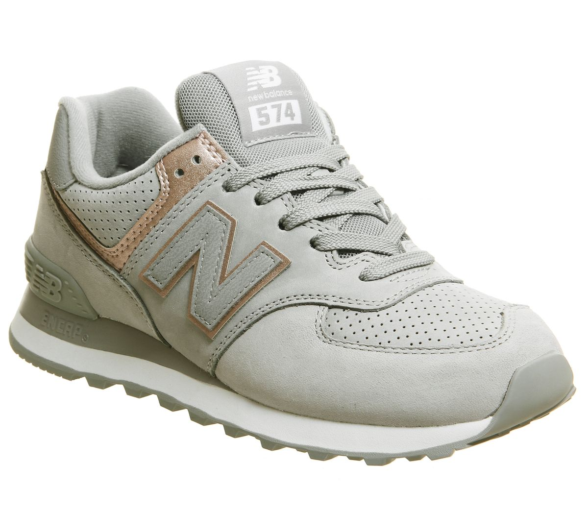 3c5586668098f New Balance 574 Trainers Seed White Rose Gold - Hers trainers