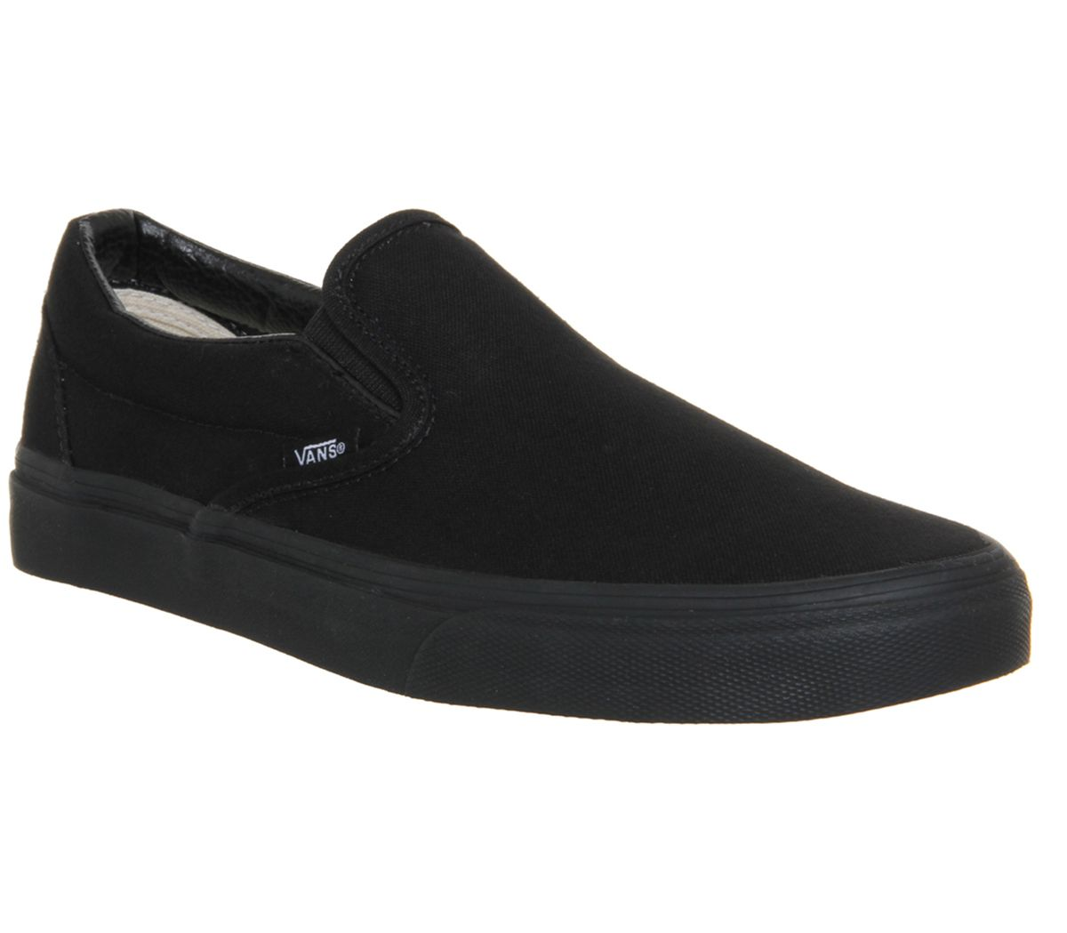 a32970ff28 Vans Classic Slip On Trainers Black Mono - Unisex Sports