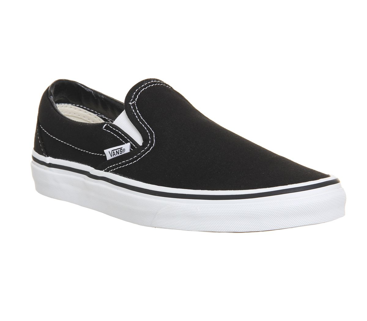 78881b483b Vans Classic Slip On Trainers Black White - Unisex Sports