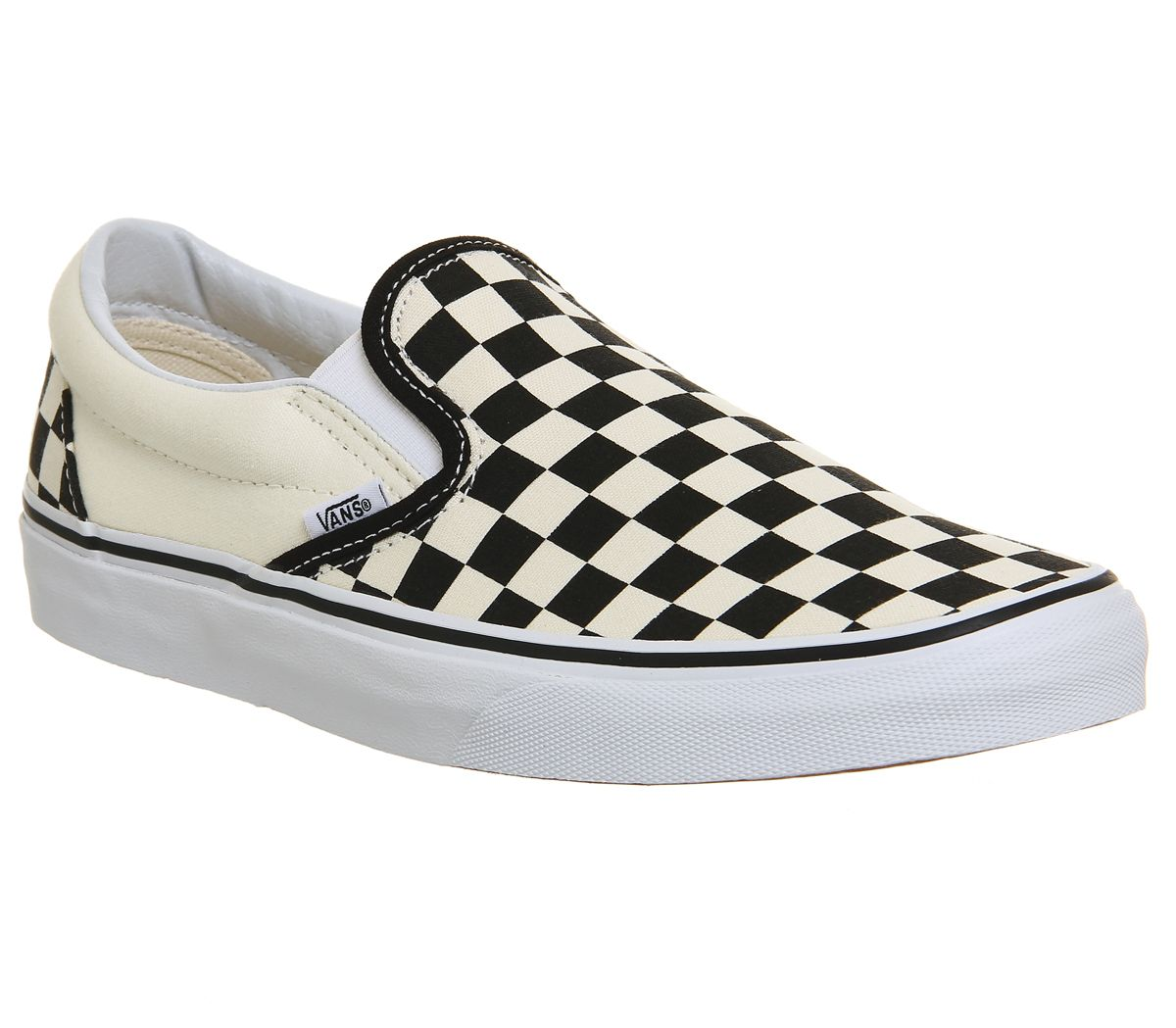 0a193808fd Vans Classic Slip On Trainers Black White Check - Unisex Sports