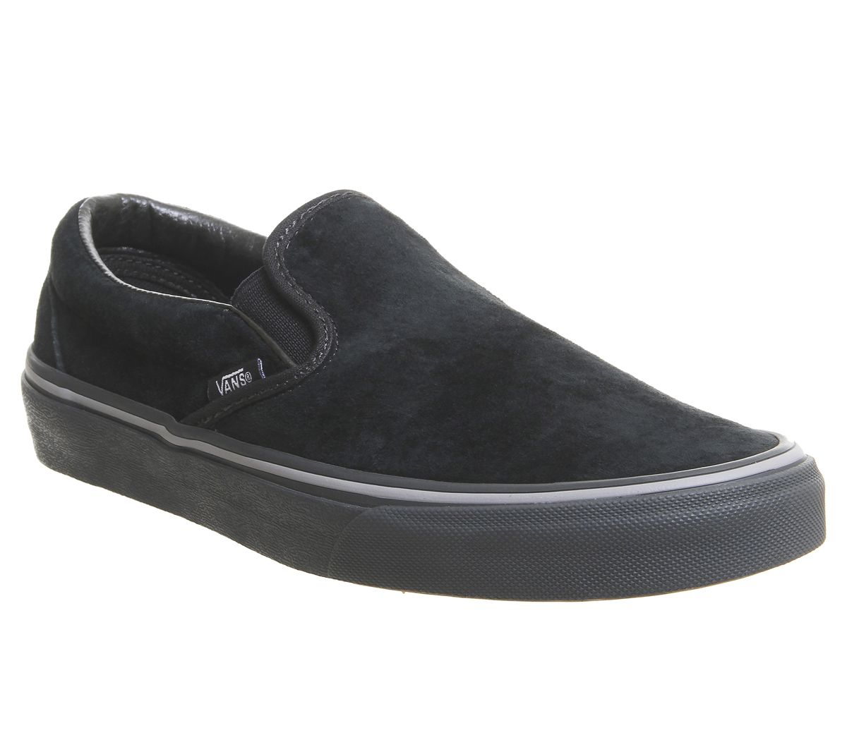 13ca1c345428c3 Vans Vans Classic Slip On Trainers Pirate Black Frost Grey - Unisex ...