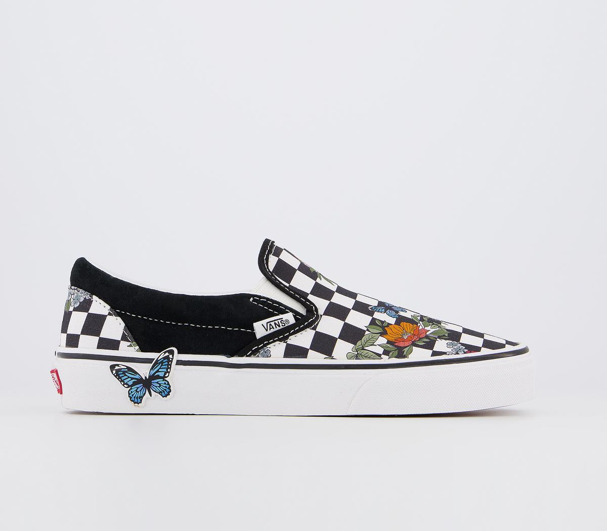slip on black and white checkered vans