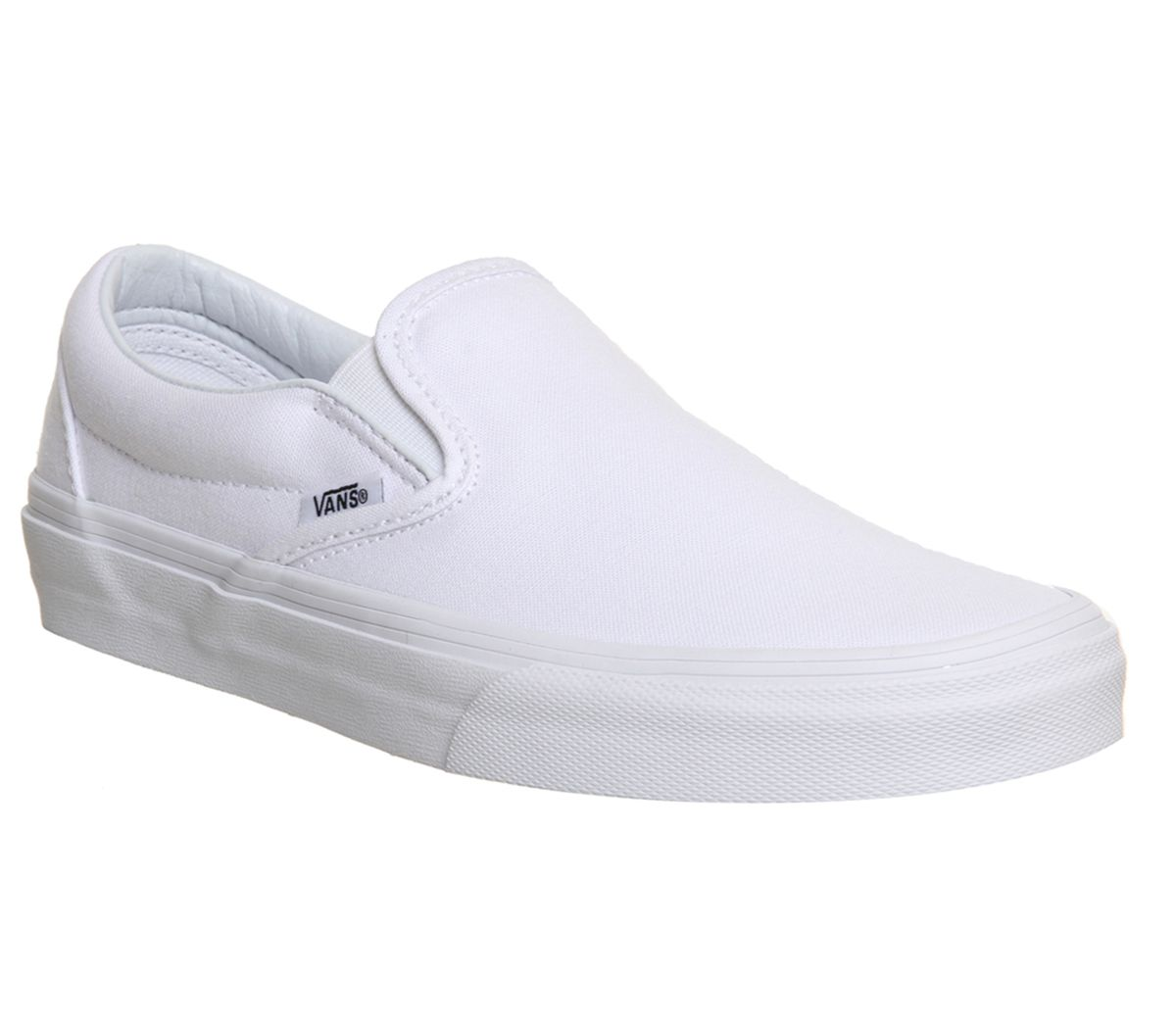 62876d3fce Vans Classic Slip On Trainers White Mono - Unisex Sports