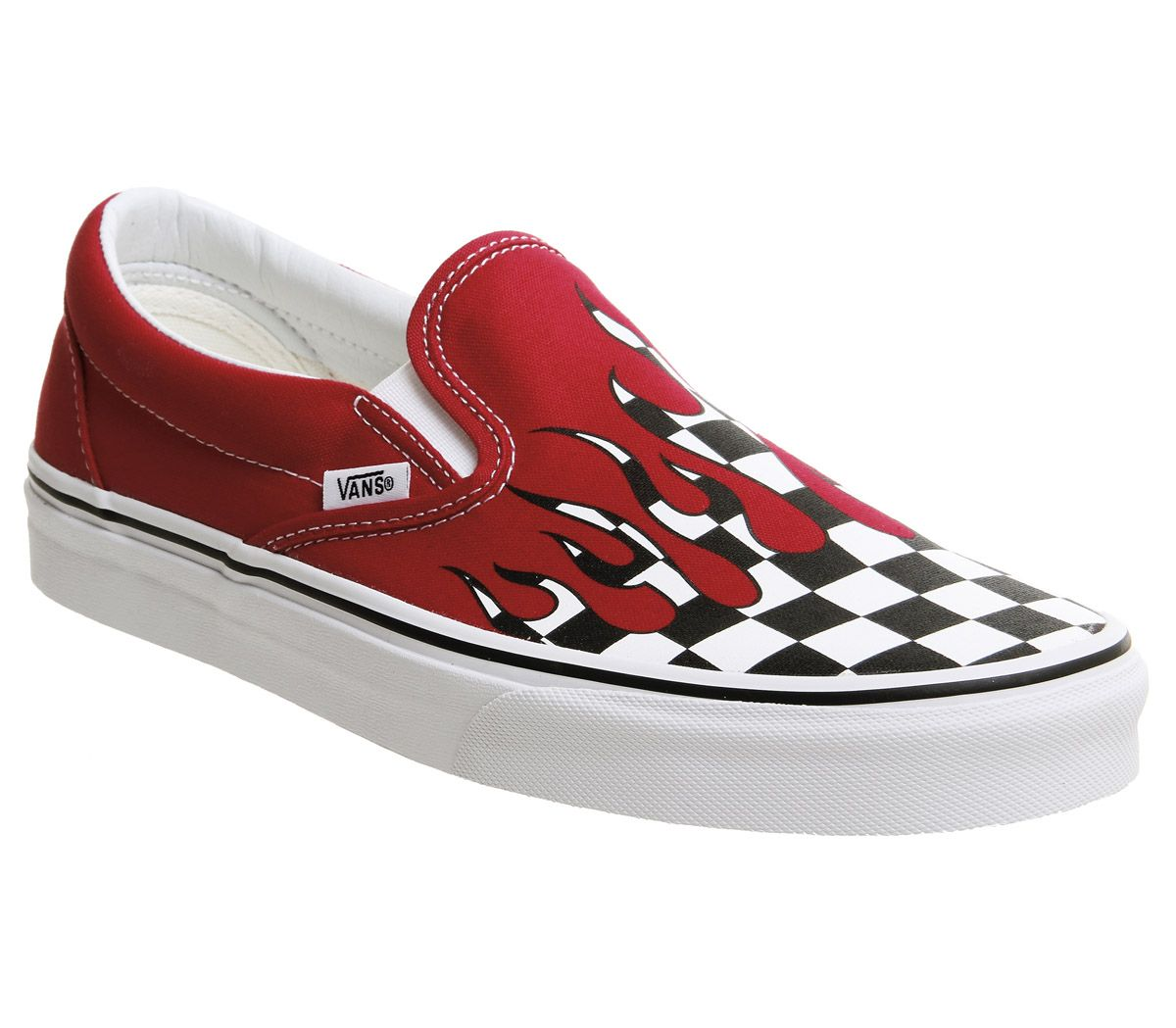 c41c73b364e Vans Vans Classic Slip On Racing Red Checkerboard Flame - Unisex Sports