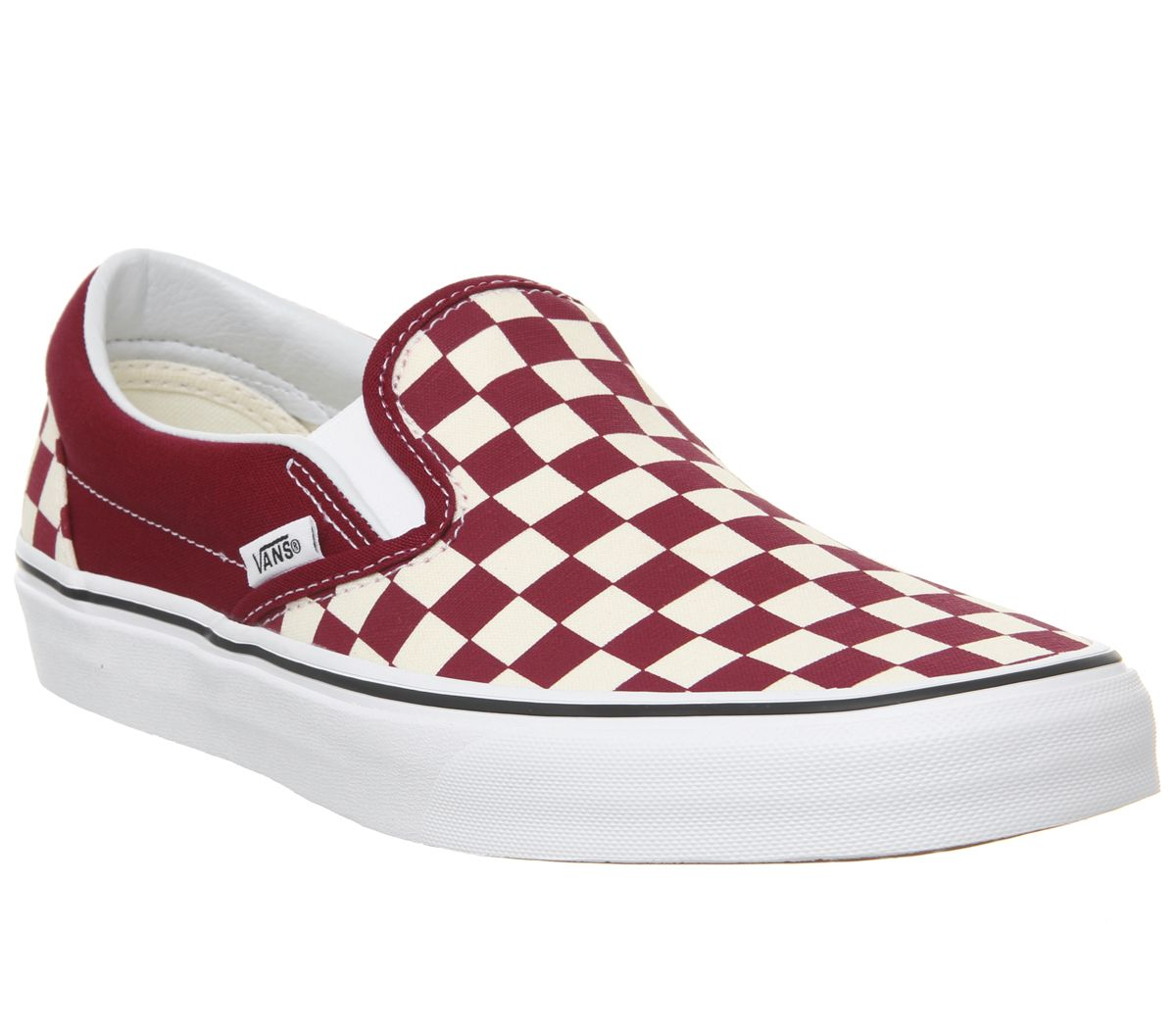 259f821d8cbd Vans Vans Classic Slip Ons Rumba Red True White - His trainers