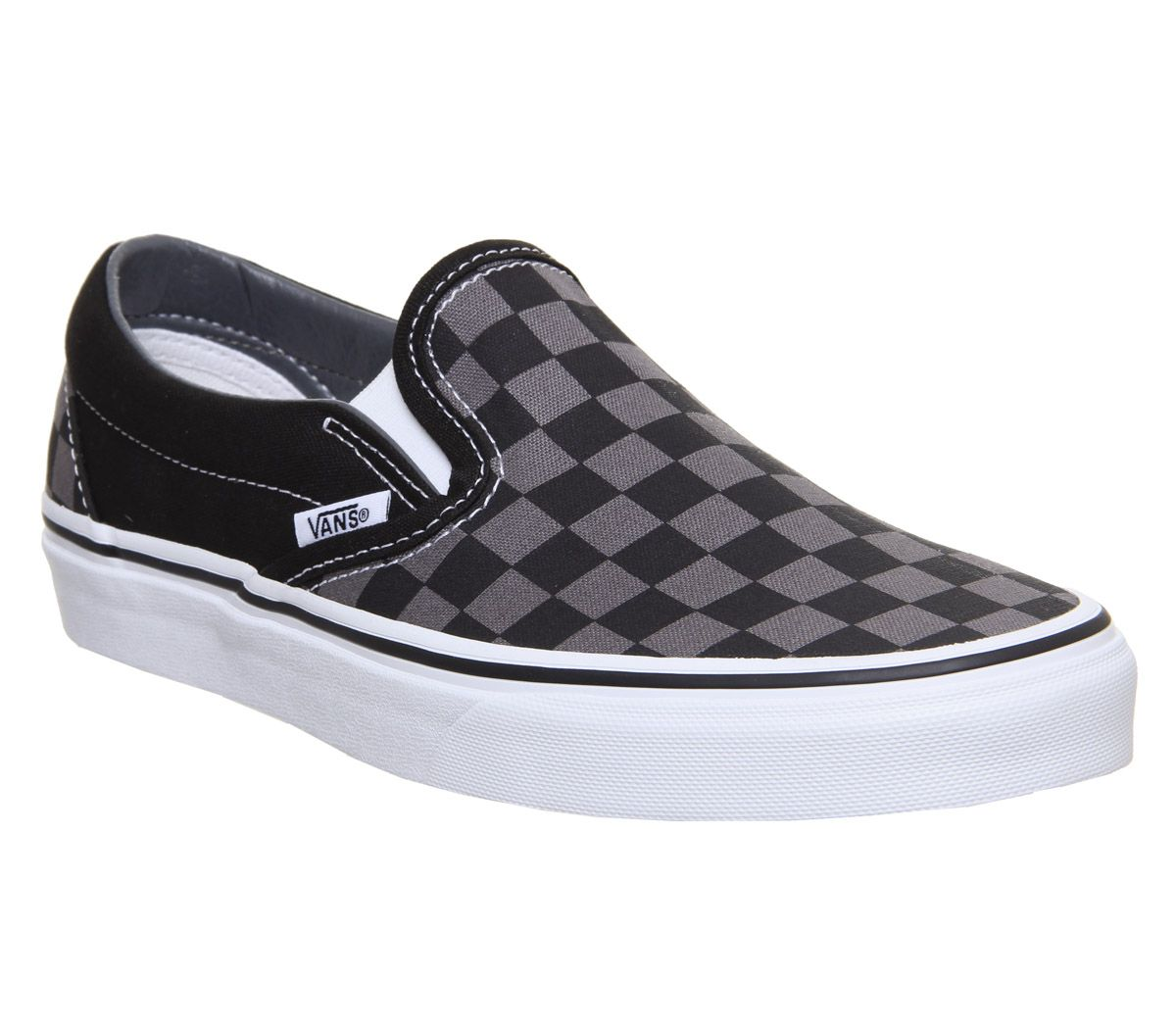 4fd6e6a2bc7589 Vans Vans Classic Slip On Trainers Black Pewter Check - Unisex Sports