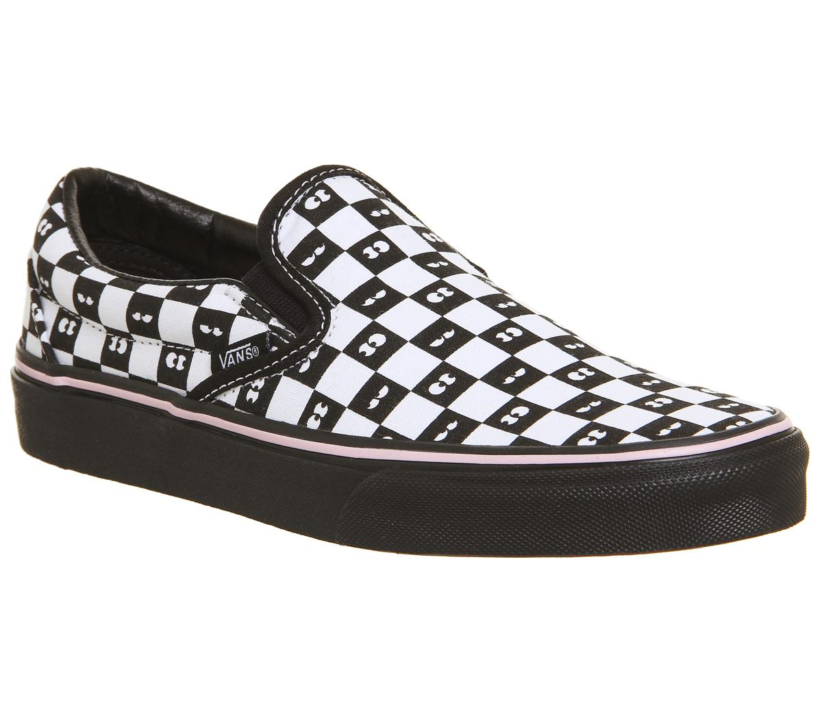 Official Outlet Vans x Lazy Oaf Slip On Checkerboard Eyes