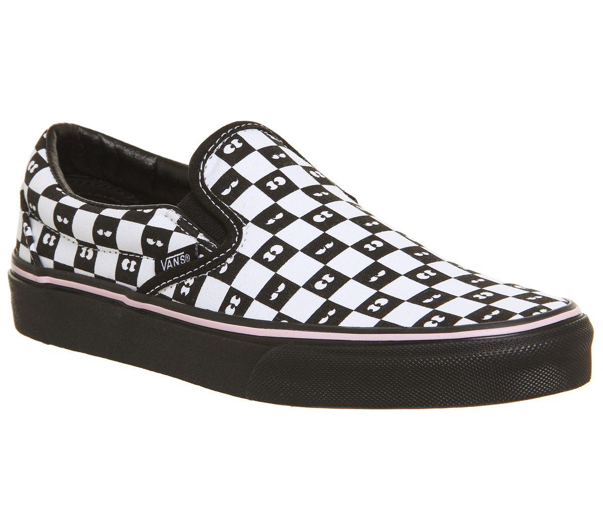 d4cef1f816 Vans Vans Classic Slip On Trainers Lazy Oaf Eyeballs Checkerboard ...
