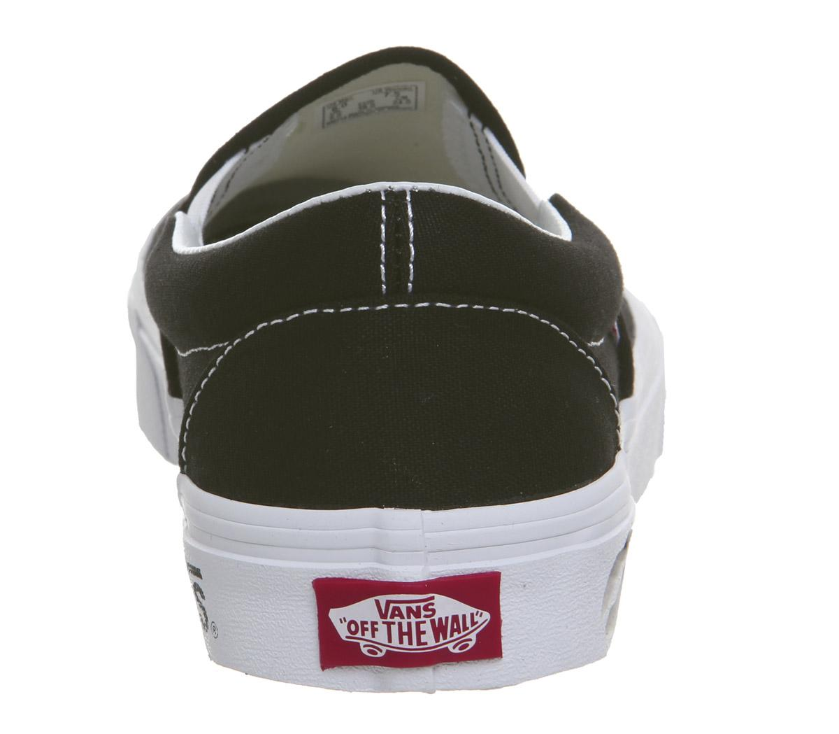 Vans Vans Classic Slip On Trainers Kmv Black True White ...