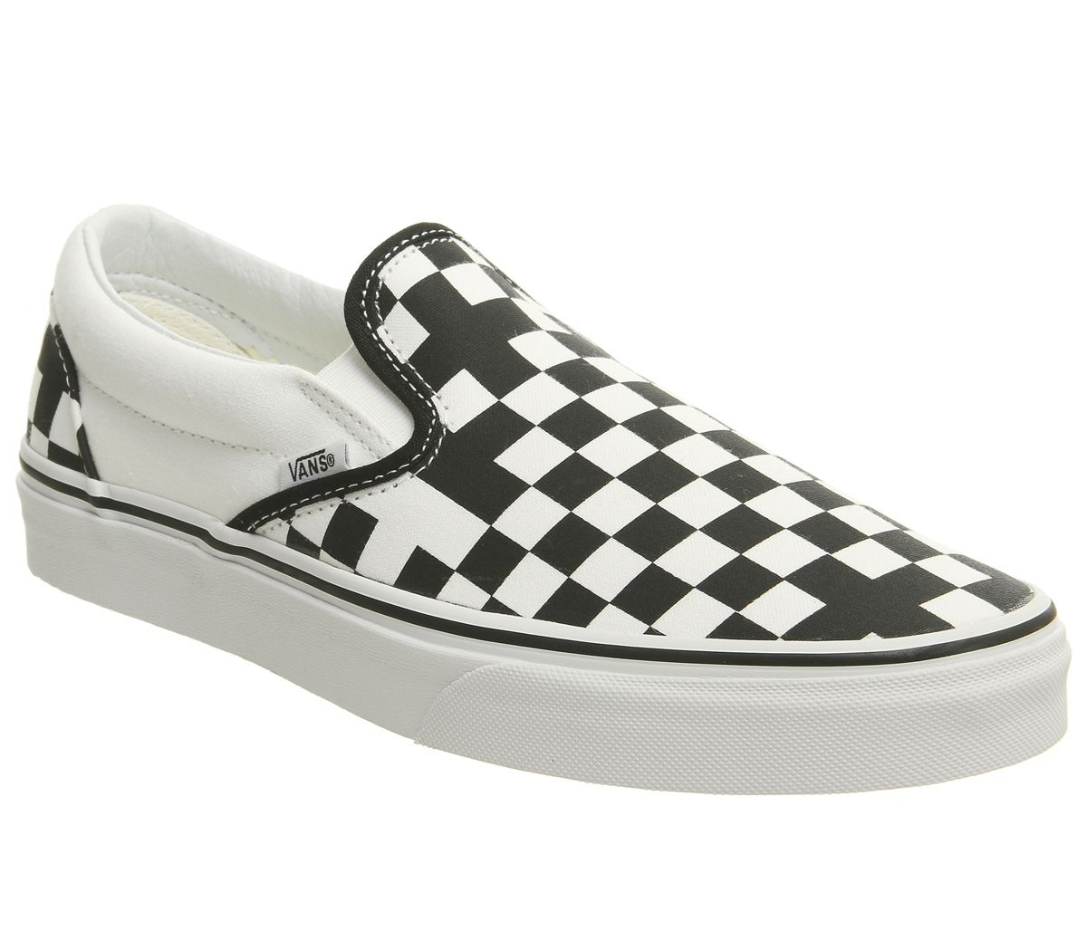 ff68a76cdb Vans Vans Classic Slip On Trainers Geometric Black True White ...