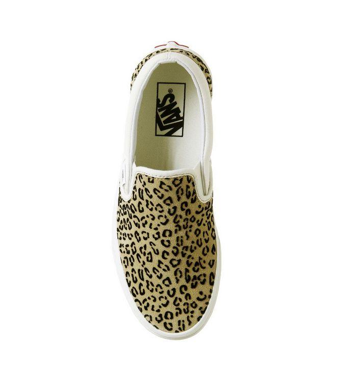 6755ad8c059f Vans Vans Classic Slip On Trainers Leopard Taffy Marshmellow - Sale