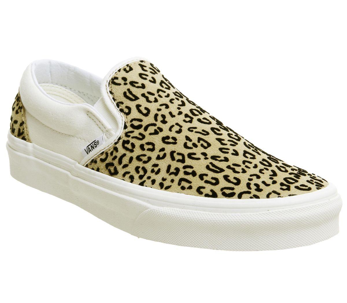6de3ebb178f4 Vans Vans Classic Slip On Trainers Leopard Taffy Marshmellow ...