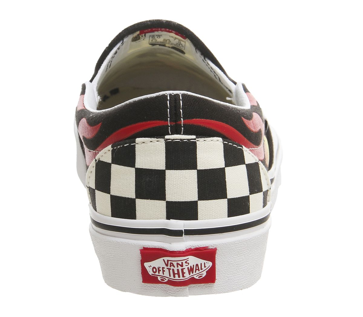 75a989acdc Vans Vans Classic Slip On Trainers Mickey And Minnie Checker Flame ...