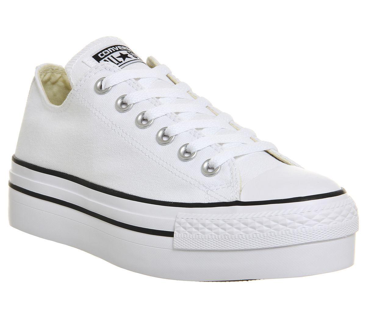 22d565dc5ae8 Converse All Star Low Platform White - junior