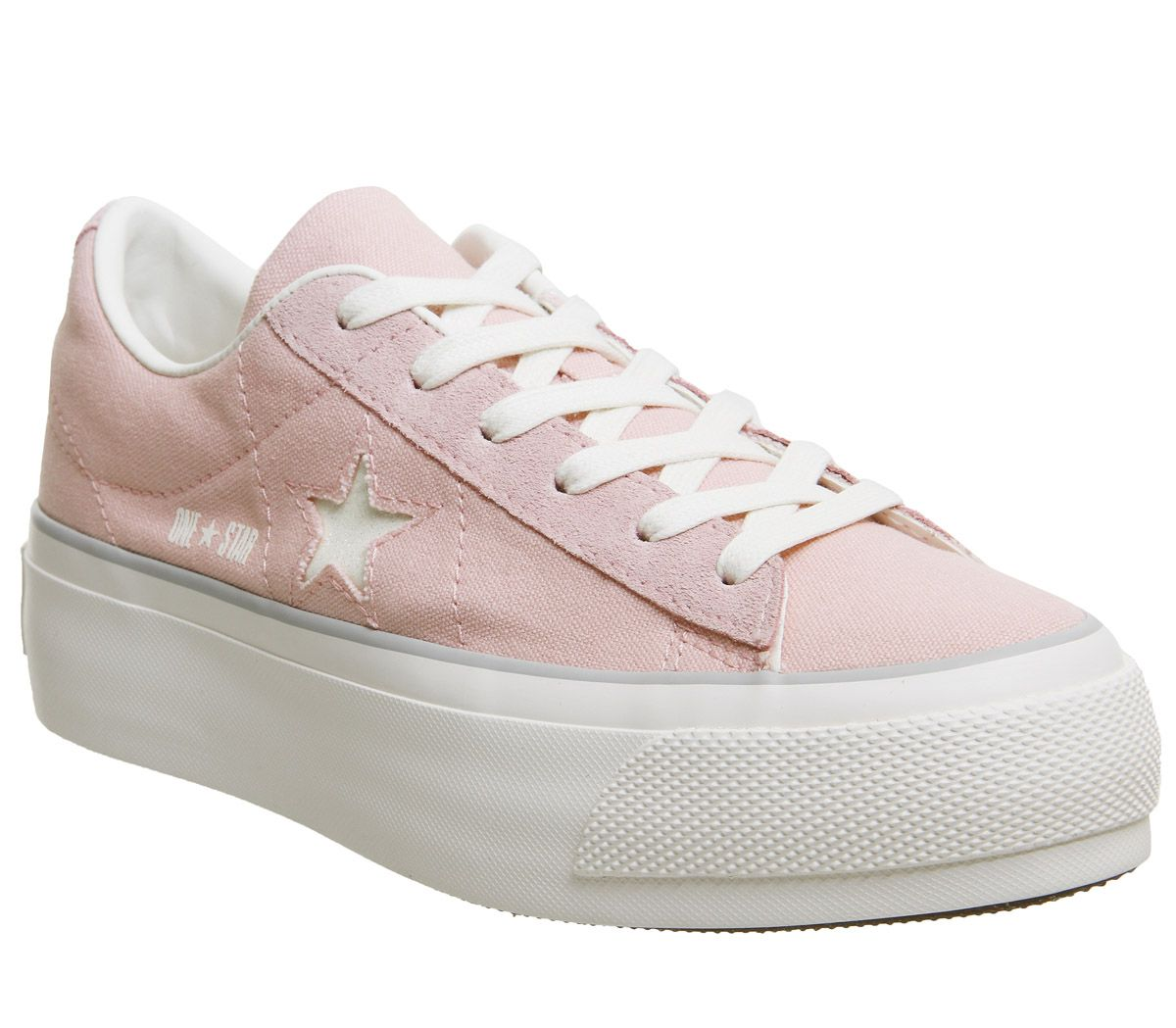 8227b69a8344 Converse One Star Platforms Pink White Glitter - Hers trainers