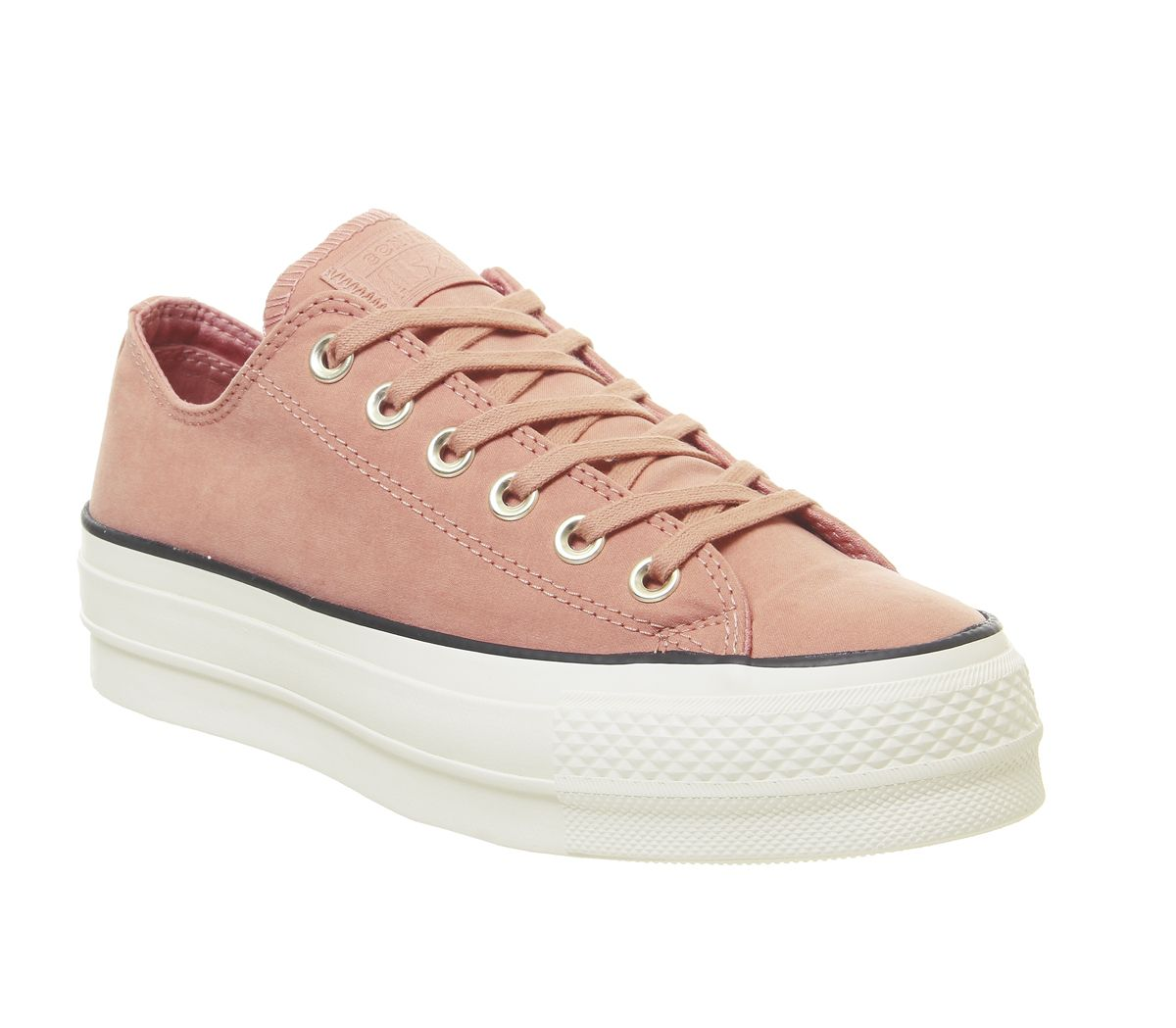aac797816acb1 Converse All Star Low Platform Trainers Pink Blush Black Egret ...
