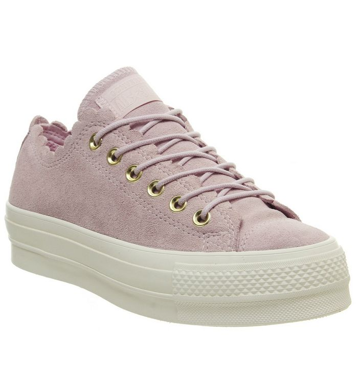 Image of Converse All Star Low Platform PINK FOAM GOLD FRILL