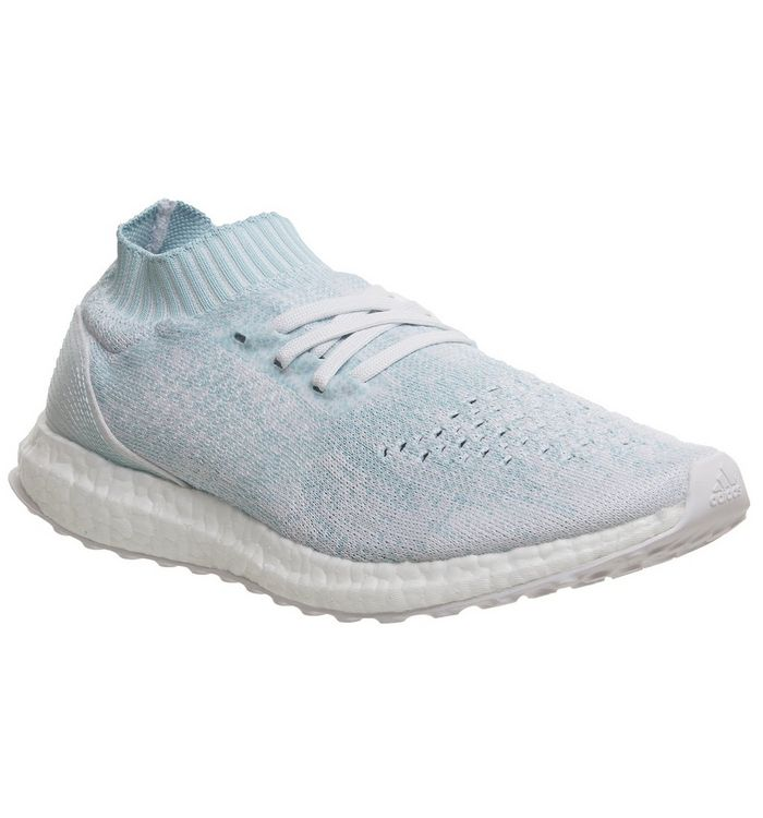 8339a37973d56 adidas Ultraboost Ultra Boost Uncaged Trainers Ice Blue White Parley ...