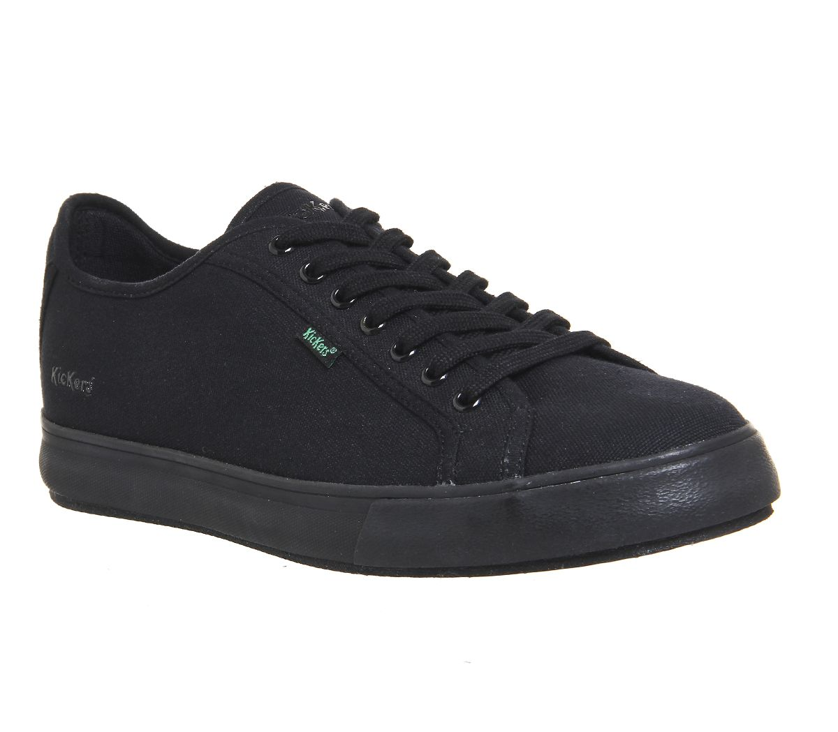 a78992e1d18f Kickers Tovni Lacer Sneakers Black Canvas - Casual