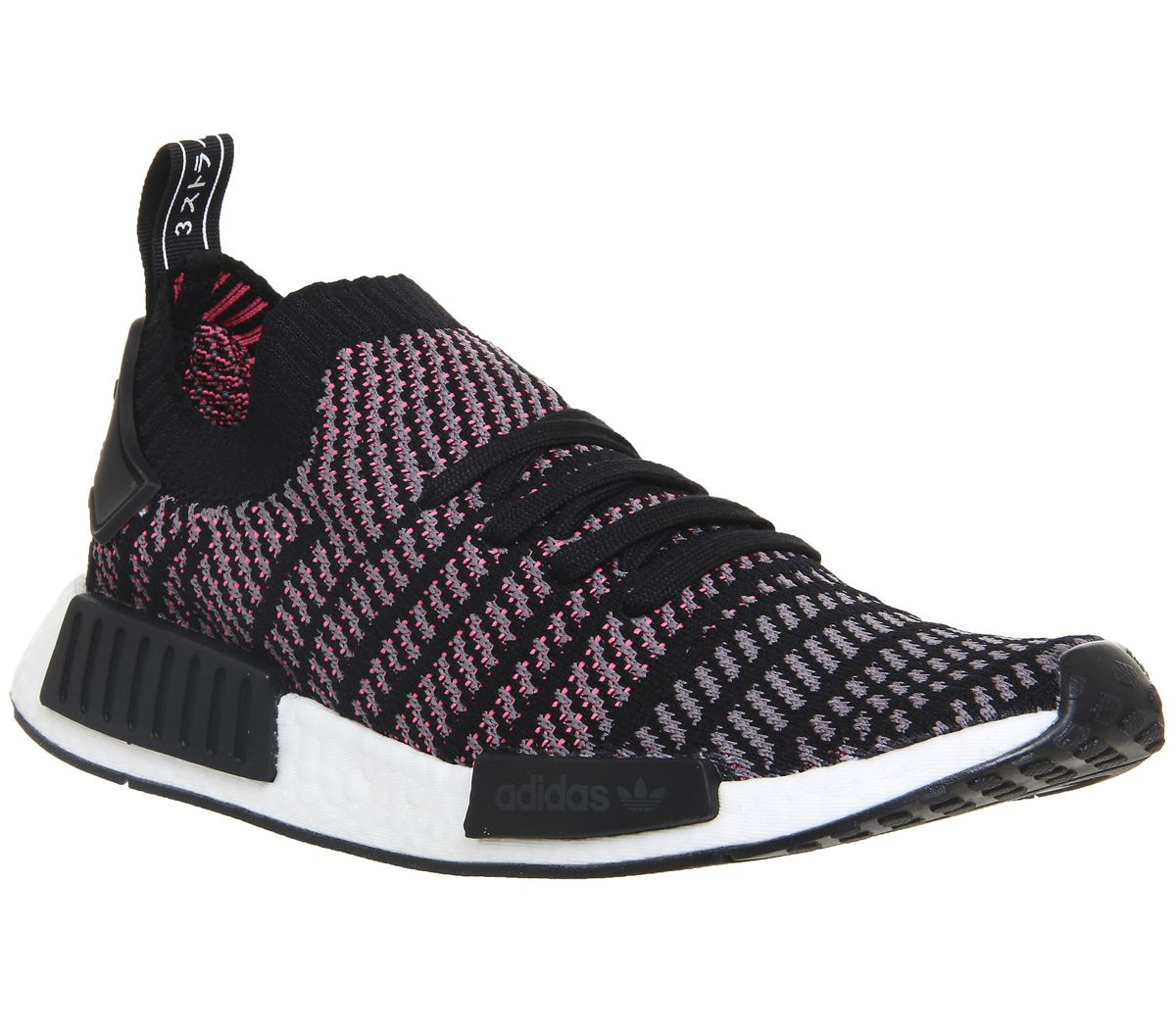 5f726aa21 adidas Nmd R1 Prime Knit Clear Black Grey Solar Pink - Unisex Sports