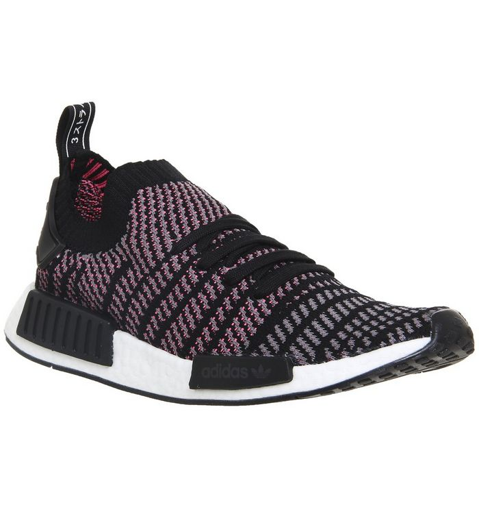 adidas Nmd R1 Prime Knit CLEAR BLACK GREY SOLAR PINK