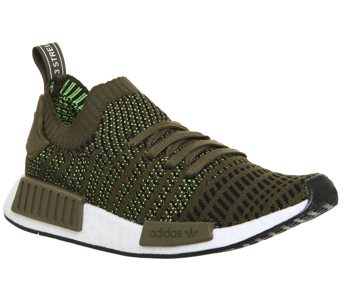 52cbb66539bdf adidas Nmd R1 Prime Knit Trainers Trace Olive - Unisex Sports
