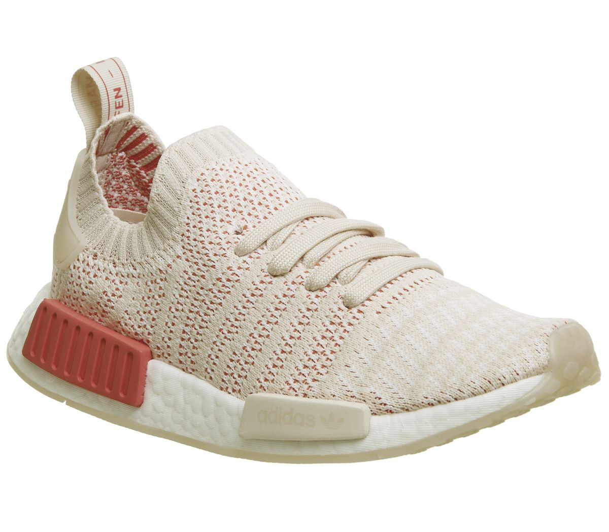 0ef7149bb adidas Nmd R1 Prime Knit Trainers Linen Crystal White - Hers trainers