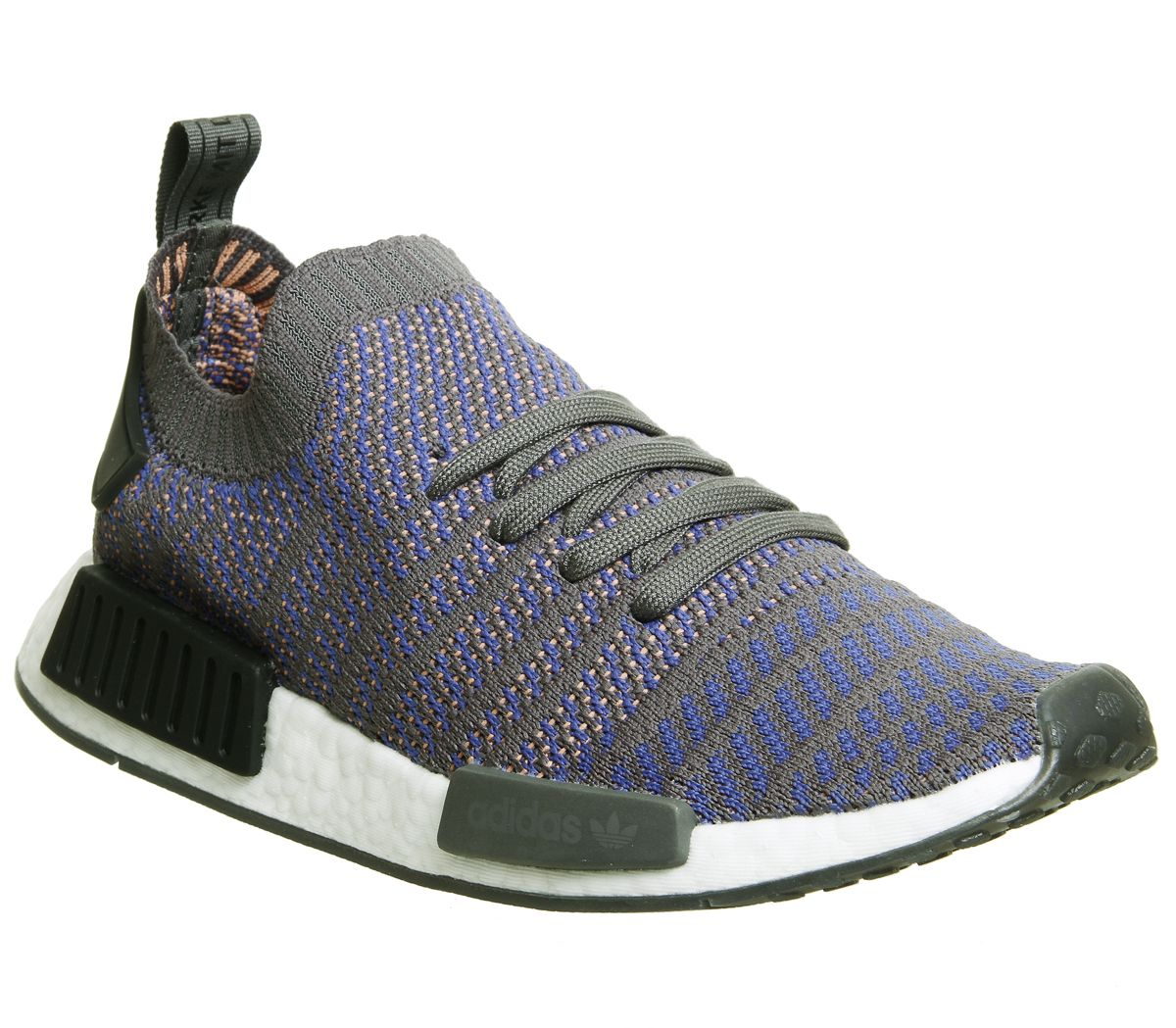 64b4775ba adidas Nmd R1 Prime Knit Trainers Hi Res Blue Black White - His trainers