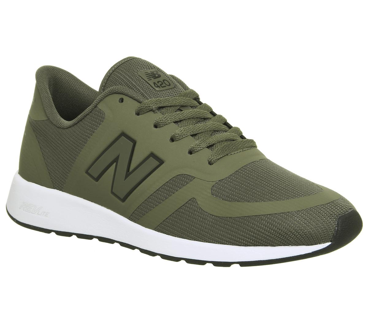 New Balance 420 Trainers Khaki Unisex Sports
