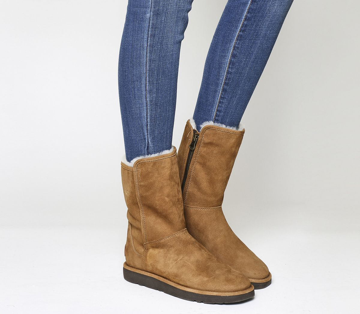 39e423899384 UGG Classic Lux Abree Short Chestnut Suede - Ankle Boots