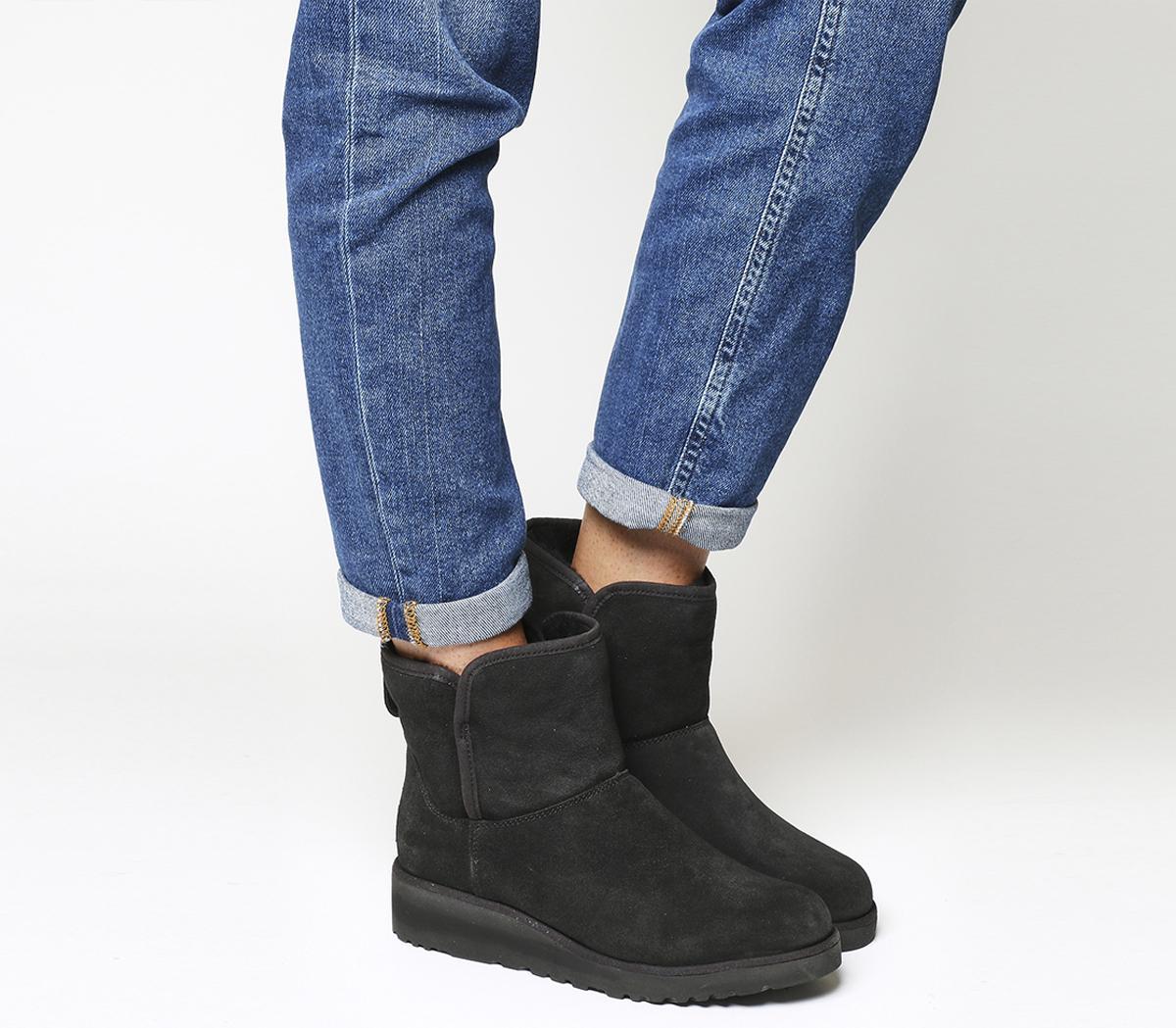 b88833d3e15f UGG Classic Slim Kristin Mini Black Suede - Ankle Boots
