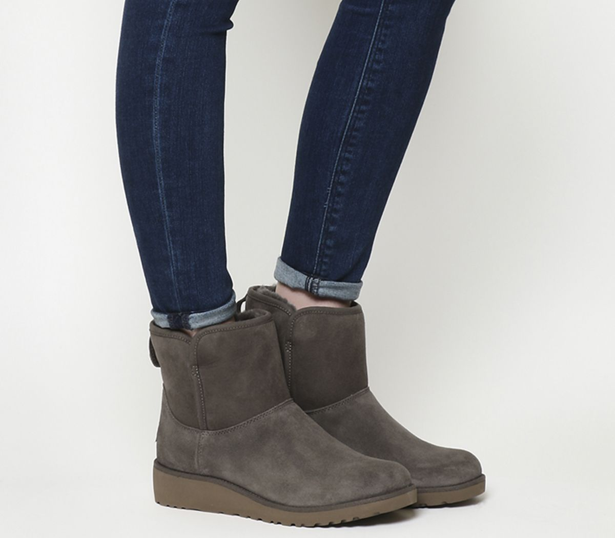5d753a768 UGG Classic Slim Kristin Mini Boots Slate Suede - Ankle Boots