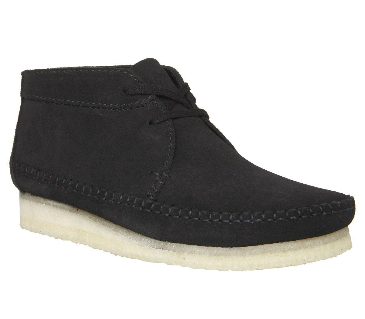 6d339f586e4 Clarks Originals Weaver Boots Black Suede New - Boots