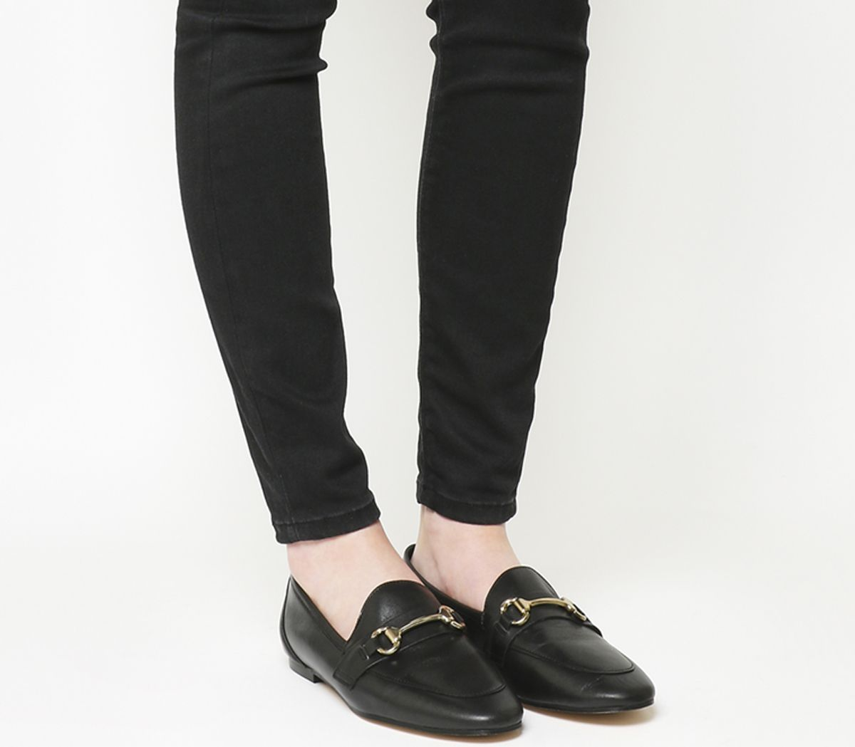 1a11986b714 Office Destiny Trim Loafers Black Leather - Flats