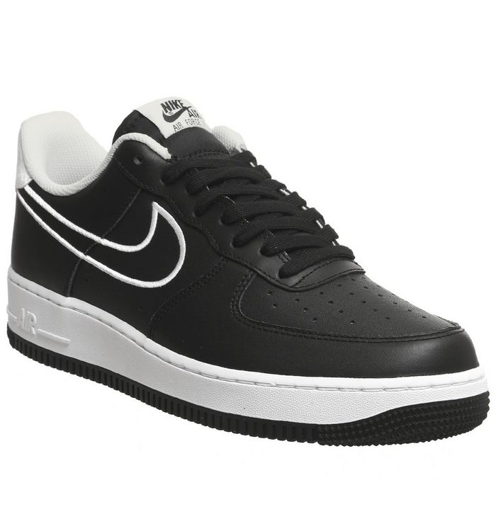 the latest 491e2 191a9 ... Nike, Air Force 1 07 Trainers, Black White Outline ...